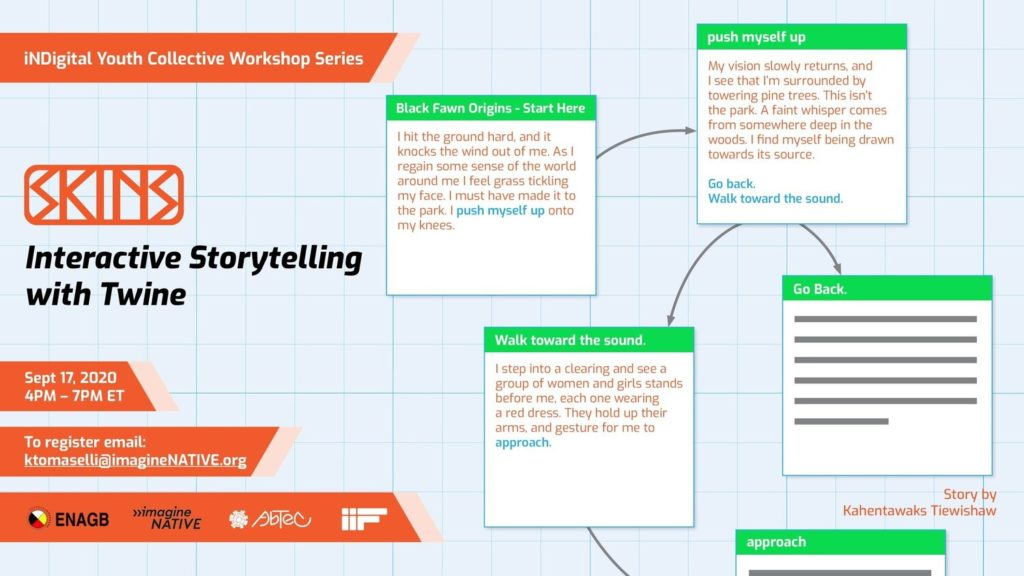 Interactive Story Telling event details.